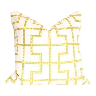 "Bleecker Citron Pillow Cover 17"" Sq"
