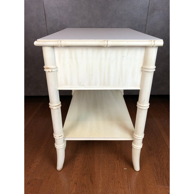 Chippendale Thomasville Faux Bamboo Nightstand For Sale - Image 3 of 6