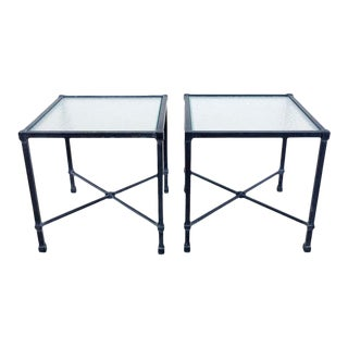 Brown Jordan Venetian Aluminum Cube Drinks Tables For Sale