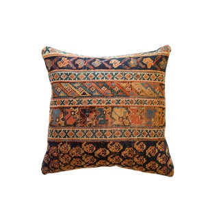 Reclaimed Antique Rug Fragment Throw Pillow For Sale