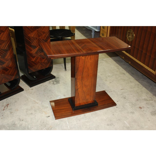 French Art Deco Palisander Console Table - Image 8 of 10