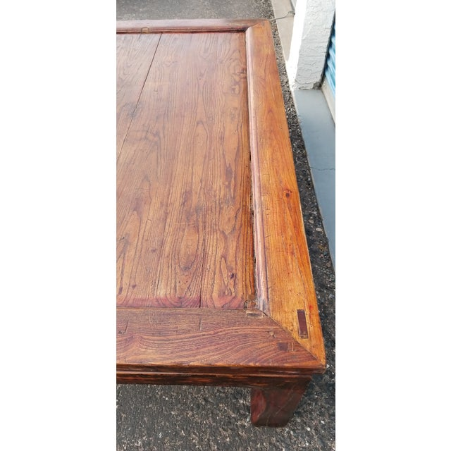 Wood 20th Century Asian Antique Monk Style Coffee Table For Sale - Image 7 of 13