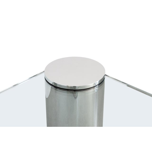 Polished Steel Cantilever Coffee Table - Image 7 of 11