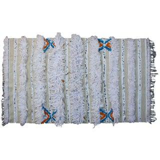Moroccan Berber Wedding Blanket W/ Blues For Sale