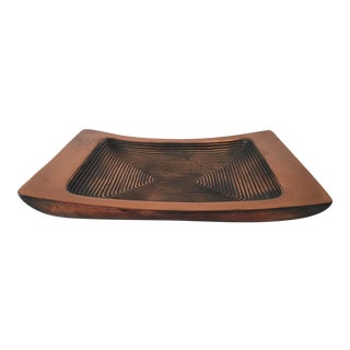 1950s Mid-Century Modern Ben Seibel for Jenfred-Ware Concentric Rectangle Dish For Sale