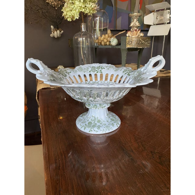 Mid 19th Century WR& Co William Ridgway 'Flosculous' French Pedestal Compote For Sale - Image 4 of 10