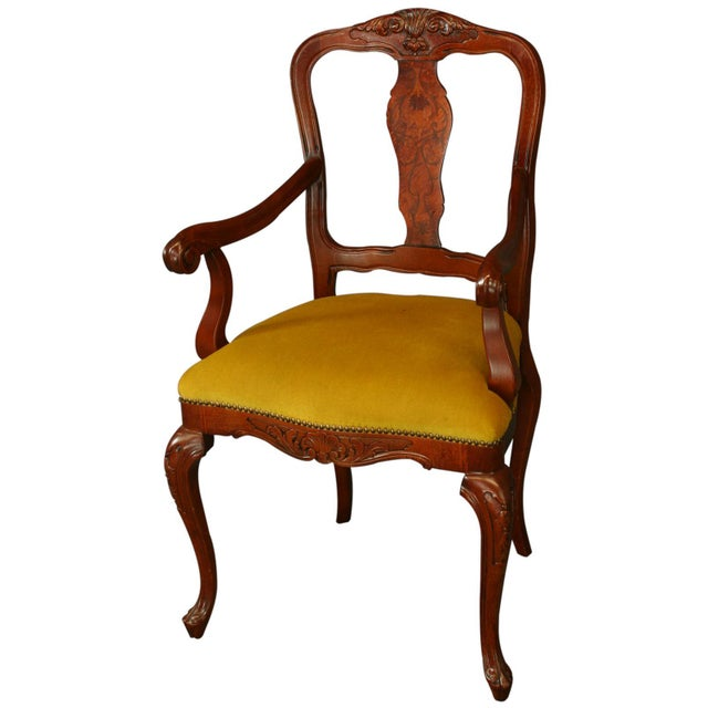New Italian Rococo Inlay Armchair - Image 1 of 8