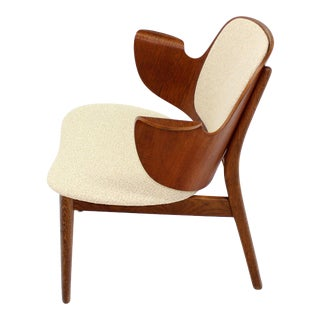 Mid-Century Modern Molded Plywood Barrel Back Armchair New Upholstery. For Sale