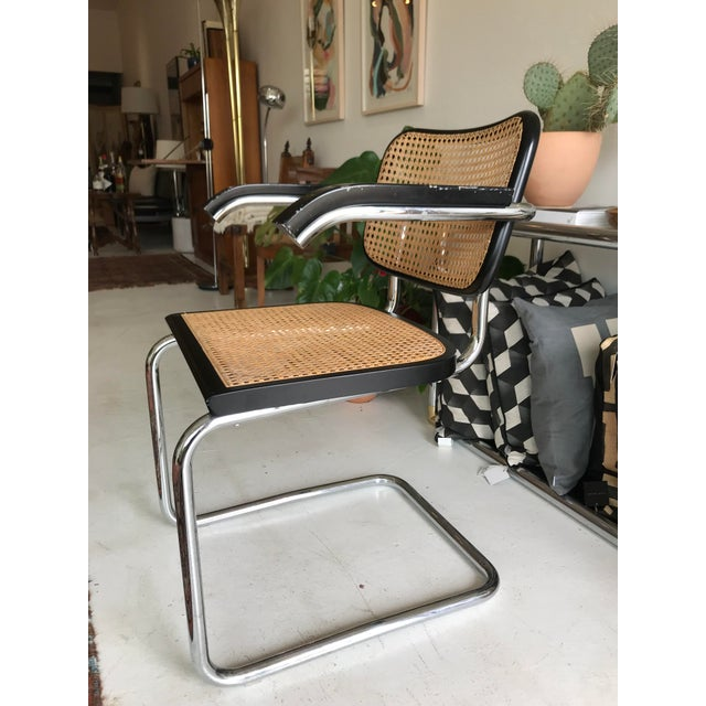 Vintage Mid-Century Modern Marcel Breuer Cesca Style Chairs - Set of 6 For Sale - Image 10 of 13