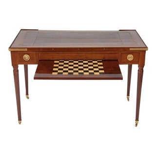 Fine Louis XVI Mahogany and Inlaid Tric Trac Table For Sale