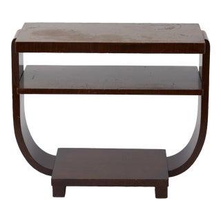 Art Deco U-Base Side Table For Sale