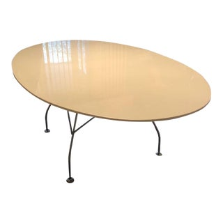 "Kartell 78"" Glossy Oval Table"