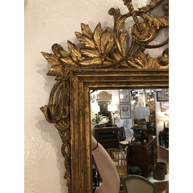 Gilt Mirror With Balloon Basket Frieze For Sale In Atlanta - Image 6 of 13