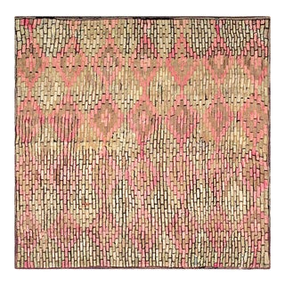 Antique American Hooked Rugs 6' 5'' X 6' 6'' For Sale