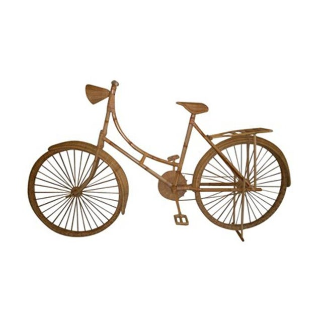 Old Fashioned Bike made out of wicker and bamboo. Hand crafted in 20th century. The bike is full size and has pedals,...