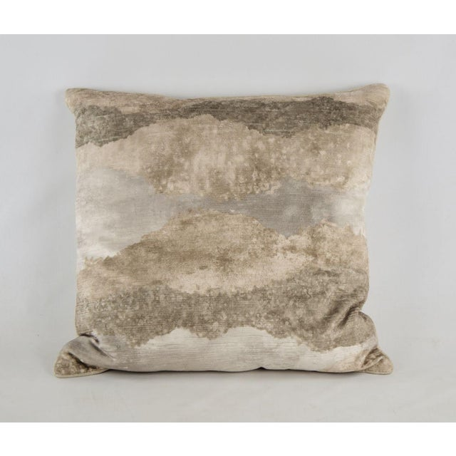 Textile Natural Gradient Feather Down Throw Pillow For Sale - Image 7 of 7