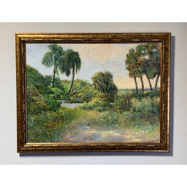 Traditional Mid 20th Century Florida Seascape Oil Paintings by Vladimir Ctibor, Framed - a Pair For Sale - Image 3 of 8