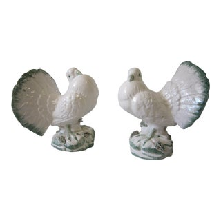 Italian Bird Figurines - a Pair For Sale