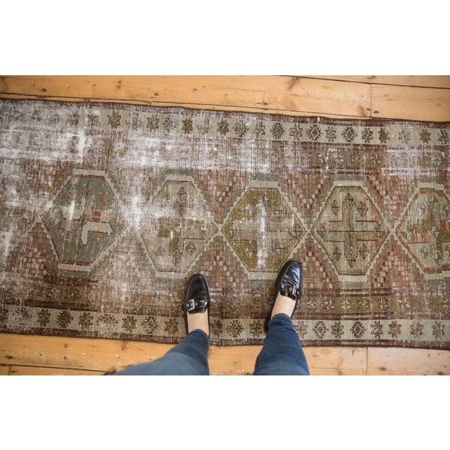 """Vintage Distressed Caucasian Rug Runner - 2'9"""" X 11'1"""" For Sale - Image 11 of 13"""