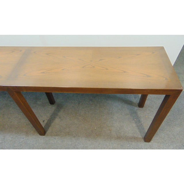 Mid-Century Modern Beacon Hill Mid-Century Oak Parsons Console Table For Sale - Image 3 of 8