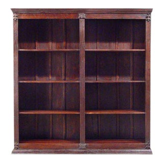 1910's Black Forrest Walnut Office Library Bookcase