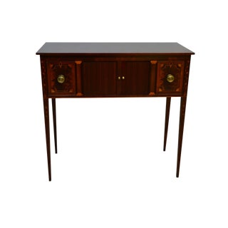 Baker Historic Charleston Mahogany Inlaid Huntboard Sideboard For Sale