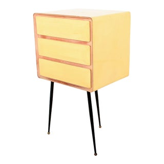 Mid Century Modern Borsani Style Vintage Office Desk Filing Cabinet For Sale