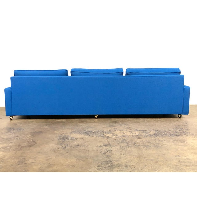 """Royal Blue Mid-Century Modern Sofa ~ 103"""" Long For Sale In Saint Louis - Image 6 of 11"""