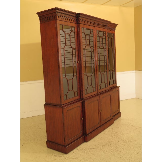 Maitland Smith Large Mahogany Breakfront Bookcase Cabinet For Sale In Philadelphia - Image 6 of 13