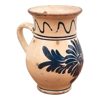 19th Century Spanish Ceramic Glazed Cream Pitcher For Sale