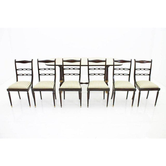 1950s Italien Dining Suite From 1959, Table and Six Chairs For Sale - Image 5 of 10