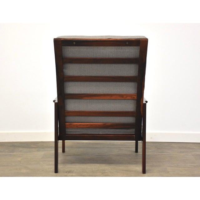 Illum Wikkelso Rosewood High Back Lounge Chair For Sale In Boston - Image 6 of 13