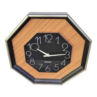 Mid Century Bulova Wall Clock For Sale