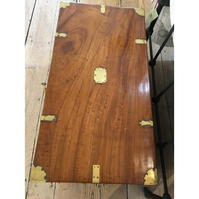 British Colonial Late 19th Century British Campaign Camphor Sea Chest For Sale - Image 3 of 8