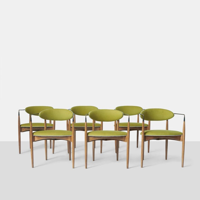White Dan Johnson Set of Six Viscount Chairs For Sale - Image 8 of 8