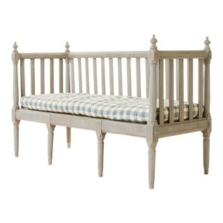 Gustavian Sofa Bench For Sale