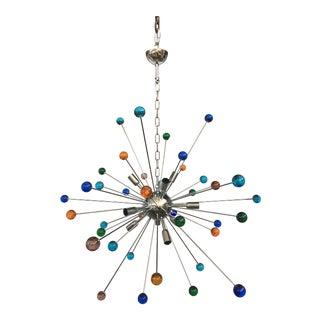 Multicolor Murano Glass Sputnik Chandelier For Sale