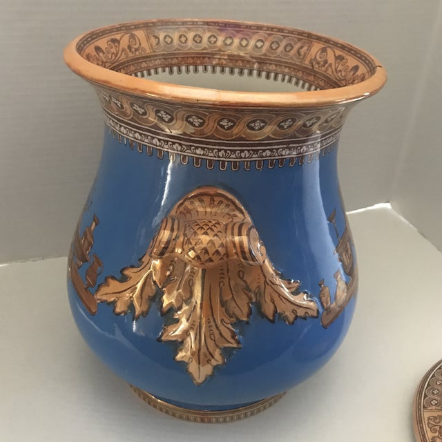 English Striking Lusterware Cover Urn For Sale - Image 3 of 13