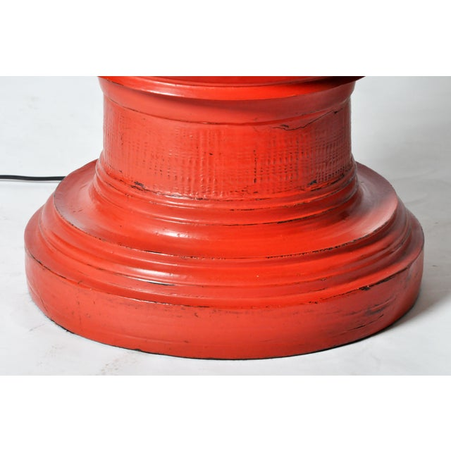 Red Temple Offering Urn Lamp For Sale - Image 8 of 8