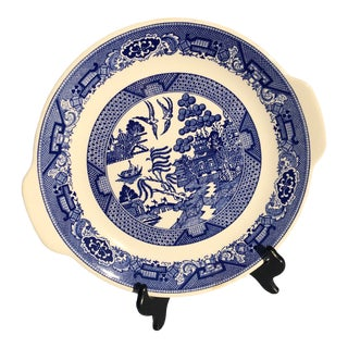 1930s Blue Willow Pie Plate Tray Willow Ware Royal China For Sale