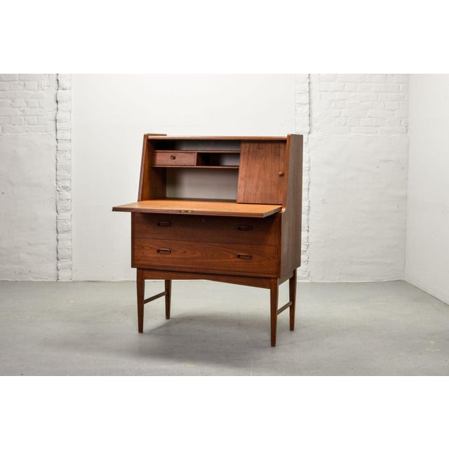 Mid-Century Scandinavian Design Teak Writing Desk, Scandinavia, 1960s For Sale - Image 11 of 11