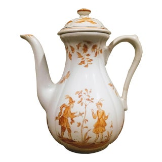 French Faience Olerys Moustiers by Longchamp Coffee Pot