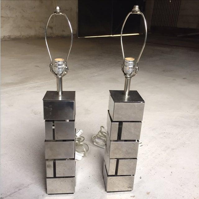 Laurel Lamp Co. Architectural Metal Lamps - A Pair - Image 2 of 6