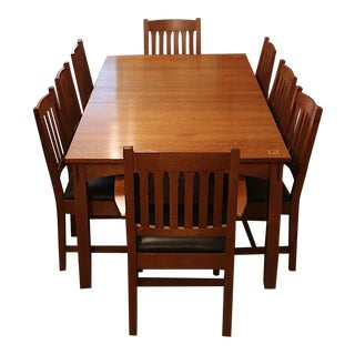Gently Used Vintage Mission Furniture For Sale At Chairish - Mission style oak dining table and chairs