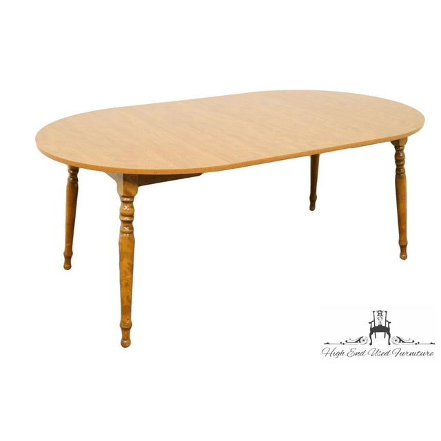 Brown 20th Century British Colonial Ethan Allen Heirloom Nutmeg Dining Table For Sale - Image 8 of 9
