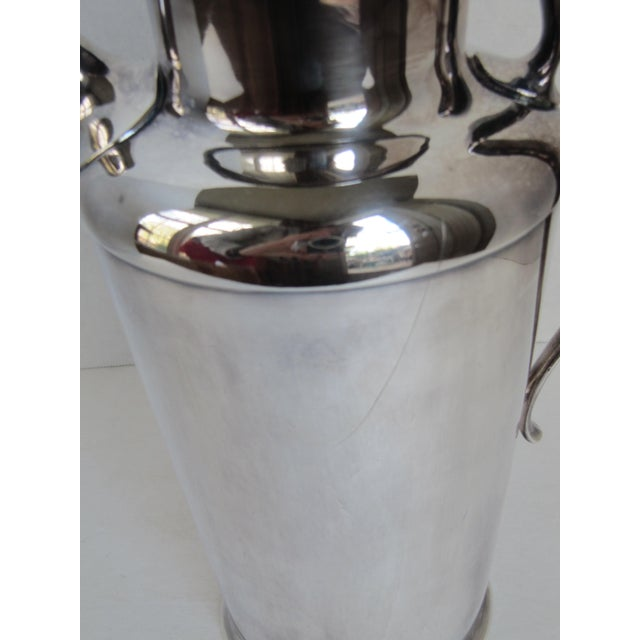 """Silver Art Deco Drink Pitcher with Initial """"D"""" For Sale - Image 8 of 11"""