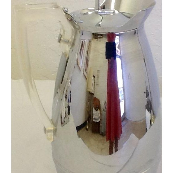 Mid-Century Thermos Silver Color & Lucite Caraffe - Image 3 of 7