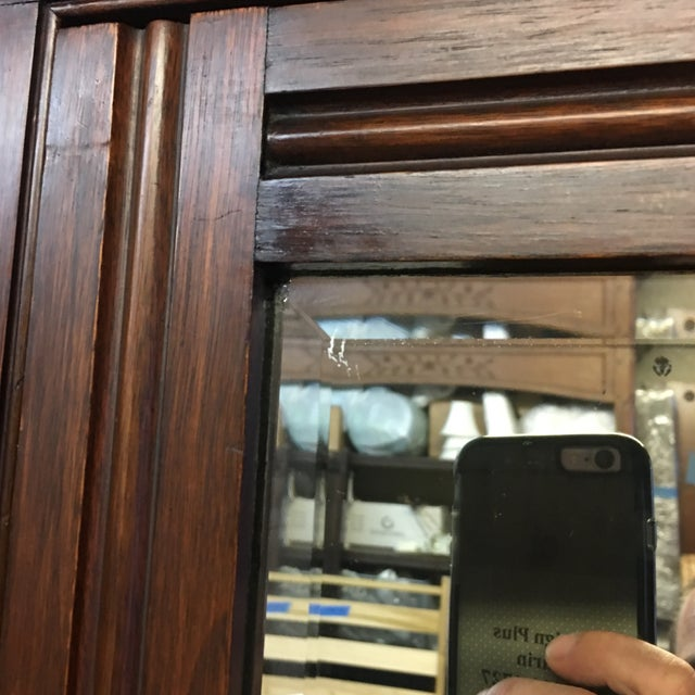 Vintage Armoire With Mirrored Door - Image 5 of 11