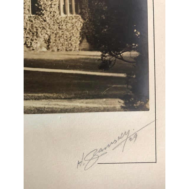 1920s Silverprint Photograph of Gothic English Building w/Ivy 1929 For Sale - Image 5 of 5