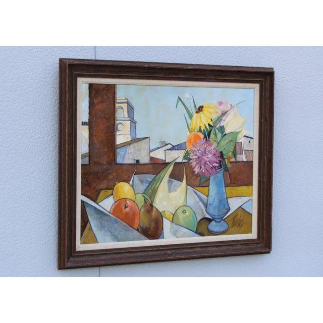 Mid-Century Modern Oil on Canvas Artwork by French Artist Charles Levier For Sale - Image 3 of 11